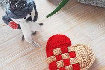 Crochet hearts