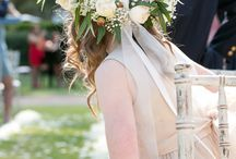 Country/vintage themed weddings. / Shades of green bridal flowers.