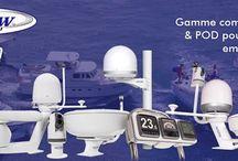 Seaview / Gamme complète de supports et de boitiers, POD, pour la pose d'instruments électroniques dédiés à la navigation et l'installation d'antennes radar, TV Satcom et autre aériens.