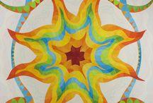 Art quilts a Modern quilts