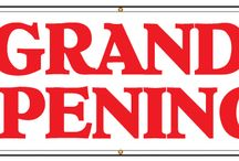 Grand Opening banners / Wahoo your open for business! Now let everyone know with one of these banners