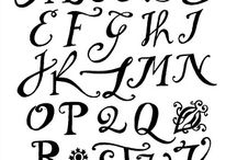 Crazy About Monograms and Lettering Fonts..........