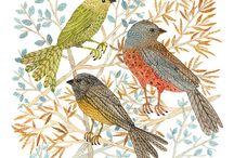 Grabados pájaros