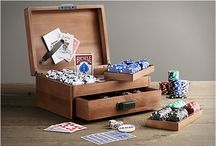 Custom Poker/Blackjack Supplies / Fresh ideas to make your home table stand out from the rest. From travel cases, to custom chips and and unique tables.