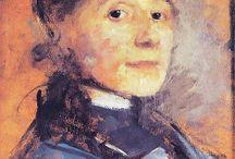 retratos entre  18..- 19.. / retratos al óleo.