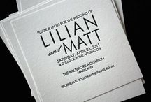 Invitations / Wedding