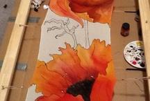 Zijde schilderen