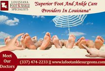 Foot And Ankle Care Center /  We believe that by equipping our patients with all the tools necessary to understand their medical condition, our patients may confidently participate in a devised treatment plan best suitable for their activity level and lifestyle