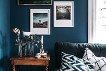 deco blue living rooms