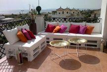 Raklap bútorok / 1. Raklap a teraszon, erkélyen - Megunhatatlan raklap ötletek