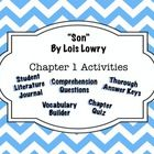 Lois Lowry Lesson Plans - The Giver - Son