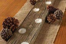 decoracion en troncos