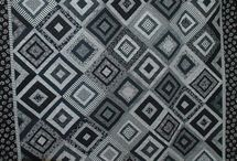 black and white, quilts