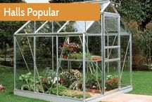 Halls Greenhouses / Halls are a big favourite with UK gardeners and offer a range of greenhouses that are suited to the beginner and more serious gardener alike. Established since the 1930's they know what the customer wants in a greenhouse design.