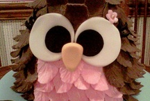 My cakes;) / baby shower cakes, wedding cakes, owl baby, rose themed cakes, / by Alysia Renner