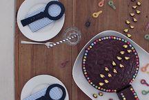 Detektiv Party / Kindergeburtstag, Teenager-Geburtstag, Motto-Party, Party-Spiele, Tischdekoration, Einladungen, Girlanden, Mitgebsel, DIY