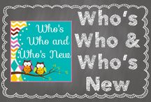 Who's Who and Who's New / A collaborative board with ideas from the authors of the Who's Who and Who's New blog! / by Hilary Lewis - Rockin' Teacher Materials