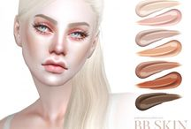 Sims 4 Skins & Overlay / Sims 4 skintones, face overlay