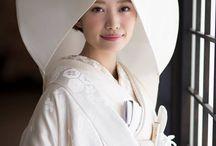 白無垢 / 縁-enishi-の白無垢 伝統的な角かくしから、洋風アレンジあれこれまで。