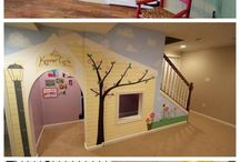Kids play room under stairs