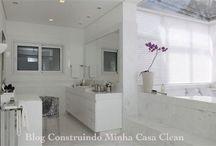 Banheiros Femininos com Penteadeiras! / Veja + Inspirações e Dicas de decoração no blog!  www.construindominhacasaclean.com