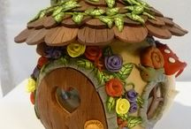 polymer clay - house