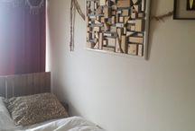 "DIY Wall frame scrap woods / DIY Ideas to use different shapes of scrap woods. ""Wall frame,"""