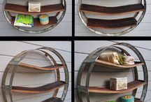 Wine Barrel Staves / Inspiration for things to make with wine barrel staves.