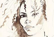 Titouan Lamazou - Carnet de Voyages / Titouan Lamazou est un navigateur, artiste et écrivain français, né le 11 juillet 1955. Nommé « Artiste de l'UNESCO pour la Paix » en 2003, il a réalisé de nombreux portraits de femmes entre 2001 et 2007 pour son projet Zoé-Zoé, Femmes du Monde. Depuis, il s'engage activement auprès d'associations caritatives pour la défense des droits des femmes et des enfants dans le monde.