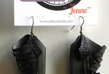 Upcycled Fashion / Recycled accessories, upcycled bags, upcycled earrings, bike inner tube earrings, gift for her, etsy shop
