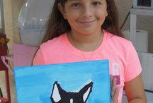 Painting Parties for kids and teens. / You can host a painting event for your junior painters.