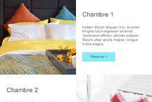 Hôtellerie - Templates emailing responsive