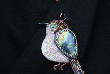 птицы из бисера