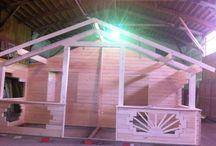 Montaggio casa campeggio 40mq con bagno e camera da letto / Con veranda anteriore di 2metri