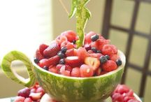 A great tea cup with lovely fruit great way for kids to eat it!