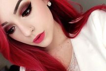 maquillage cheveux rouge