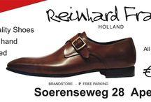 Reinhard Frans / De wereld van Reinhard Frans biedt een unieke combinatie van handgemaakte schoenen voor een standaard prijs van €150,- voor elk model.