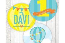 Festa Balão Menino / Papelaria Digital para Festas Criativas. Compre no nosso site www.shopfesta.com.br