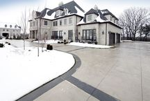 Heated Driveway / Leave the shovel and salt this winter for a snow melting driveway.