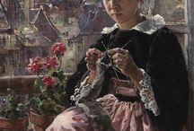 Girl With Knitting