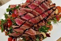 salade met biefstuk en balsamico