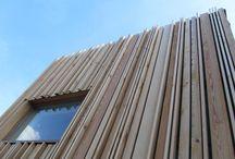 Referenties houten gevel