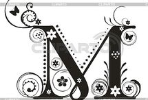 """first letter of my name """"M"""" / by Lovelady ❤️"""