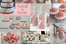 Coral and Grey Weddings