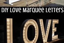 Marqee letters