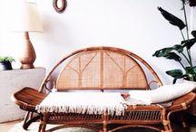 Bambú fever / Piezas de bambú, mobiliario, accesorios, estetica 70s. Tropical style.
