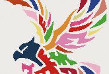 haft krzyżykowy-kolorowe wzory