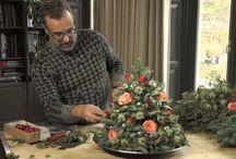 tafel kerststukken