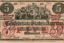 Counterfeit Confederate Currency / Confederate currency that was fake, printed in the North by S.C. Upham, the Norths notorious counterfeiter, and distributed in the South