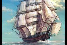 Voile de Gynéthée - Navires